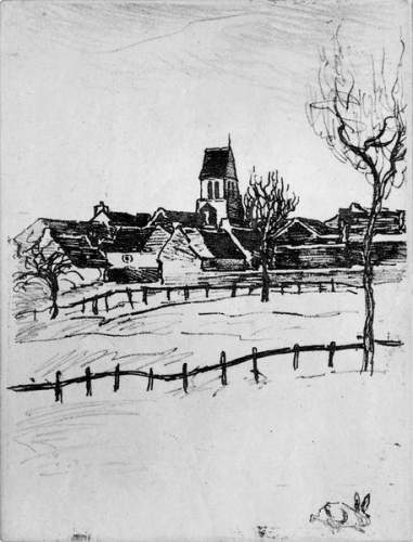 Galluis  Seine et Oise, 1913 - Théophile Alexandre Steinlen