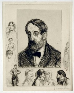 Jehan Rictus, 1914 - Theophile Steinlen