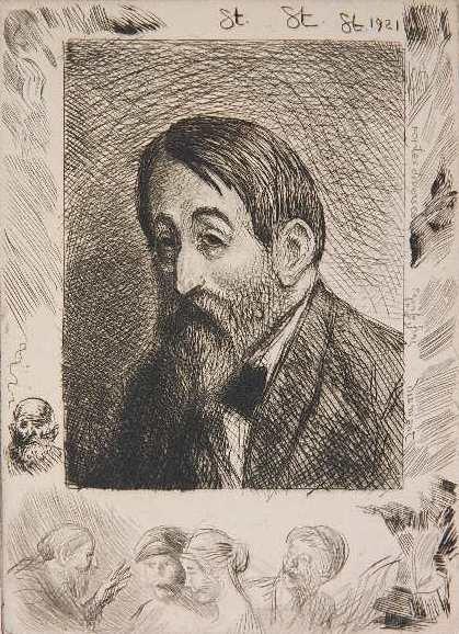 Jehan Rictus, 1921 - Theophile Steinlen