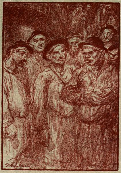 La Descente, 1907 - Theophile Steinlen
