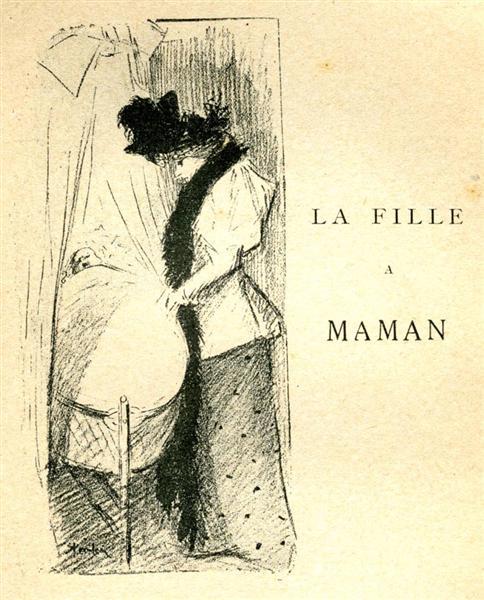 La Fille a Maman - Theophile Steinlen