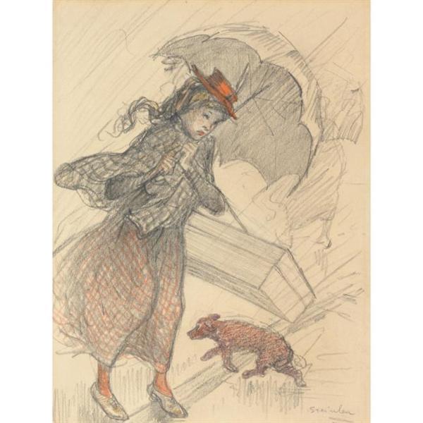 La Livreuse Sous La Pluie - Théophile Alexandre Steinlen