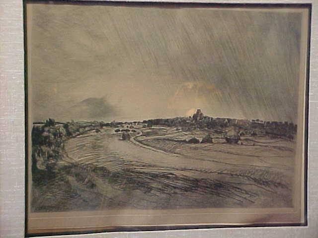 Landscape etching - Theophile Steinlen