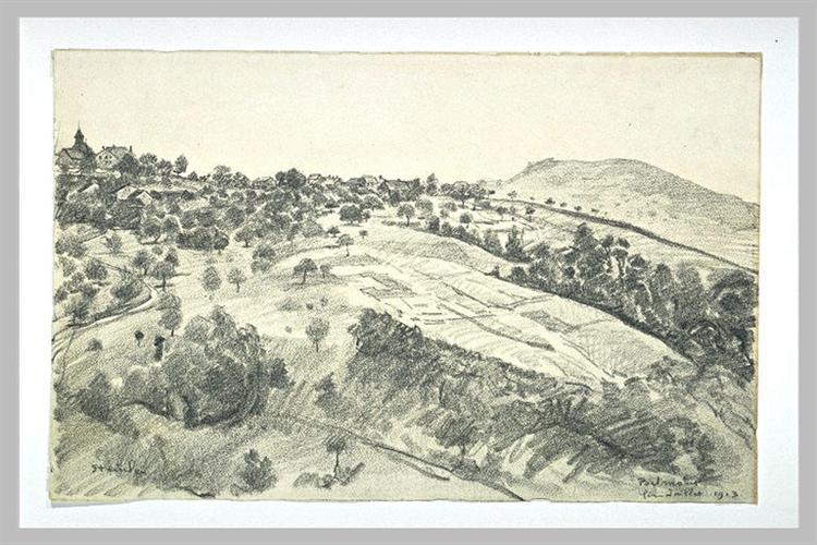 Landscape of Belmont, 1913 - Théophile Alexandre Steinlen