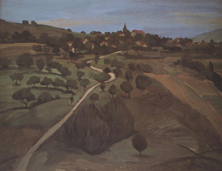 Landscape of Belmont, 1919 - Theophile Steinlen