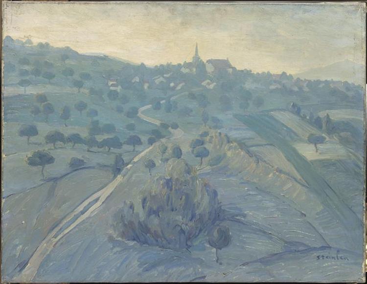 Landscape of Belmont - Theophile Steinlen