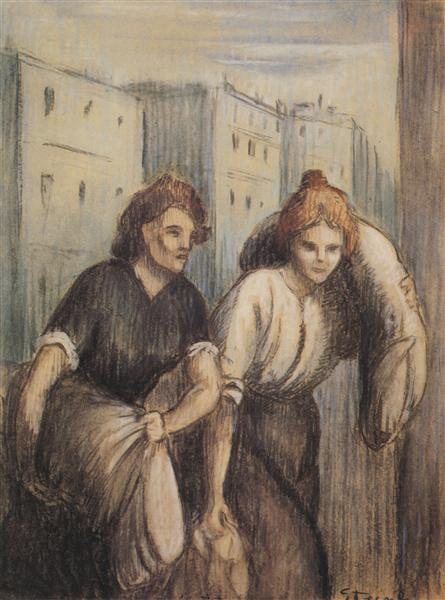 Laundresses, 1897 - Theophile Steinlen
