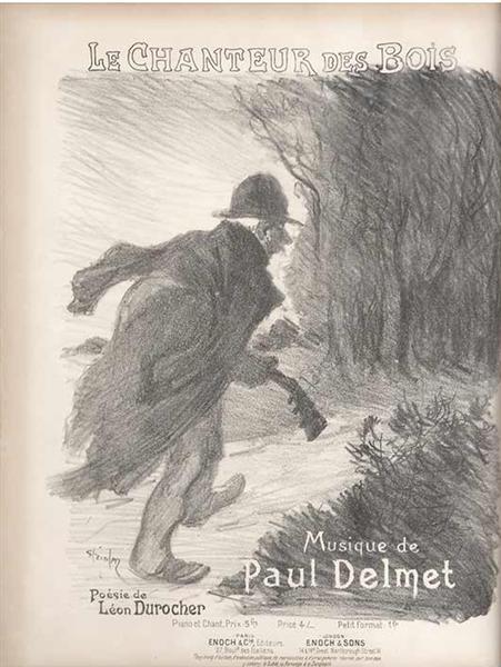 Le Chanteur des Bois, 1897 - Theophile Steinlen