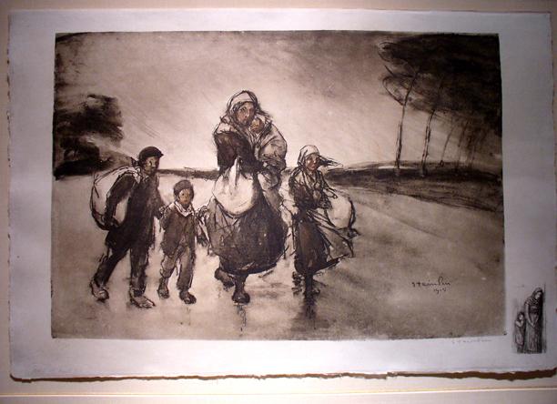 Le Coup de Vent  Vers L'Inconnu, 1915 - Theophile Steinlen