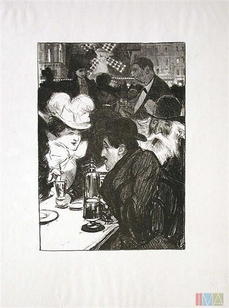Les Bleuets, 1899 - Theophile Steinlen