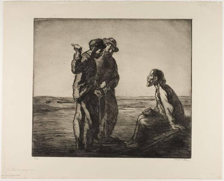 Les Trois Compagnons, 1912 - Theophile Steinlen