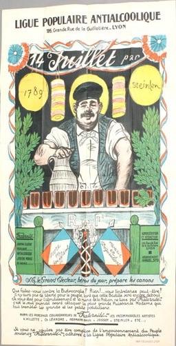 Ligue Populaire Antialcoolique, 1920 - Theophile Steinlen