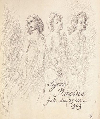Lycee Racine, 1903 - Theophile Steinlen