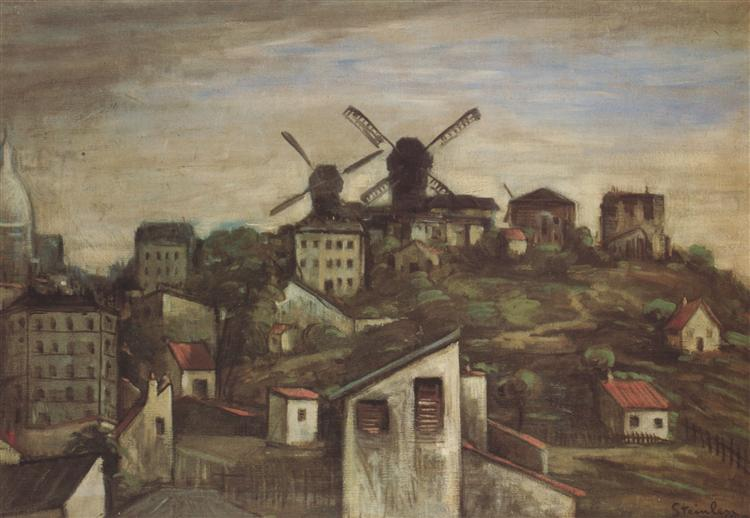 Montmartre Windmills, 1903 - Theophile Steinlen