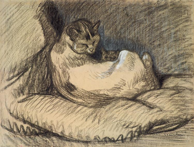 Mother Cat - Theophile Steinlen