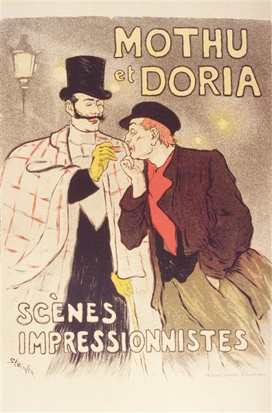 Mothu et Doria Maitres de l'Affiche, 1881 - Theophile Steinlen