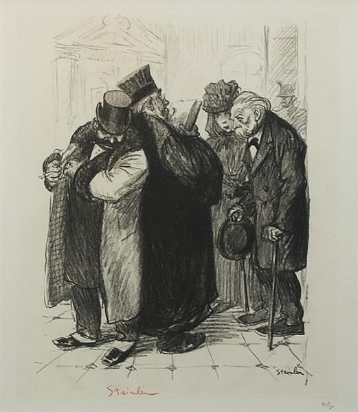 On Detrousse Au Coin Des Lois, 1898 - Теофиль Стейнлен