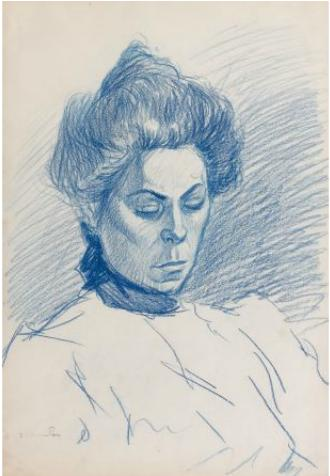 Portrait de Femme - Theophile Steinlen