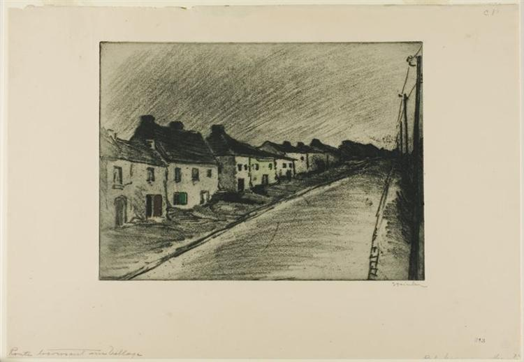 Route Traversant Un Village, 1902 - Theophile Steinlen