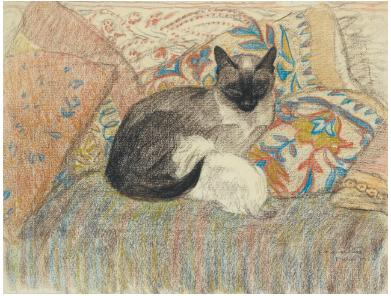 Siamese Cat and her kitten - Theophile Steinlen