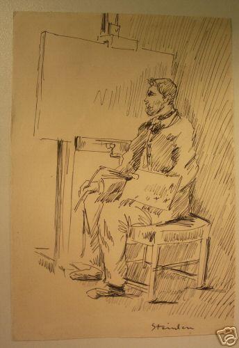 Steinlen self-portrait - Theophile Steinlen