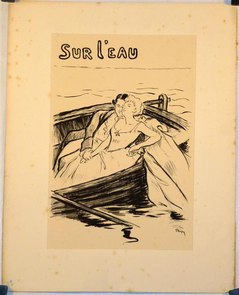 Sur L'Eau, 1894 - Théophile Alexandre Steinlen