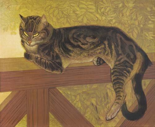 The summer - Cat On A Balustrade, 1909 - Theophile Steinlen