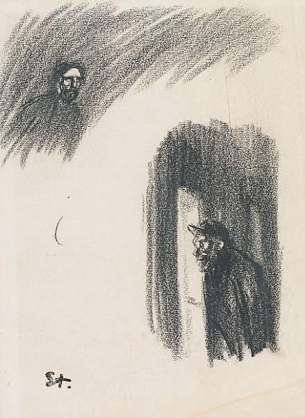 Two Men - Theophile Steinlen