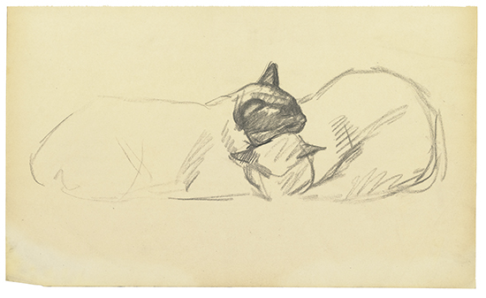 Two sleeping cats - Theophile Steinlen
