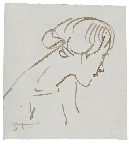 Woman ink profile - Theophile Steinlen