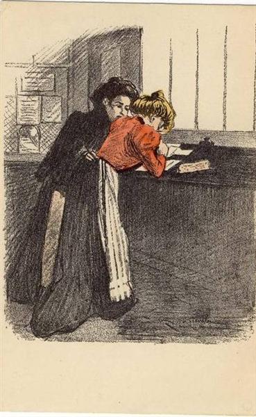 Women at counter - Theophile Steinlen