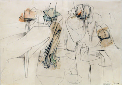 Football Players Sketch, 1954 - Theophilus Brown