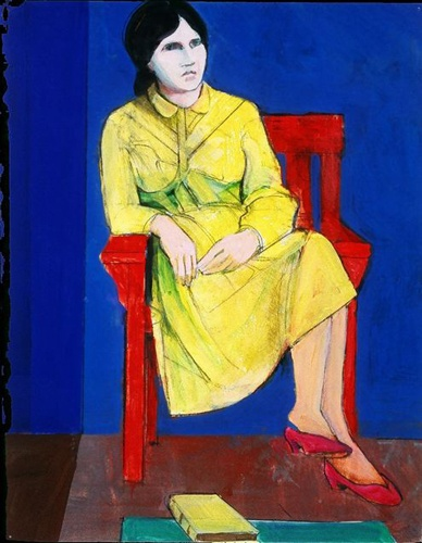 Woman in a Yellow Dress, 1990