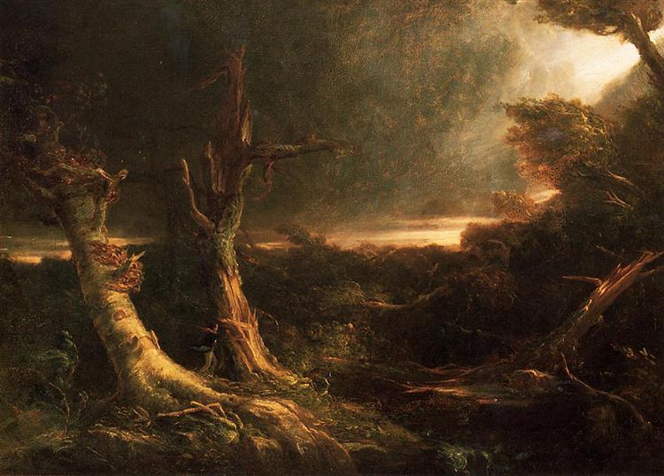 A Tornado in the Wilderness, 1835 - Thomas Cole