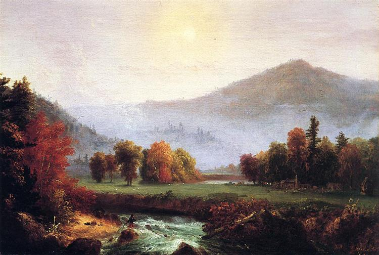 Morning Mist Rising In Plymouth, New Hampshire, 1830 - Thomas Cole