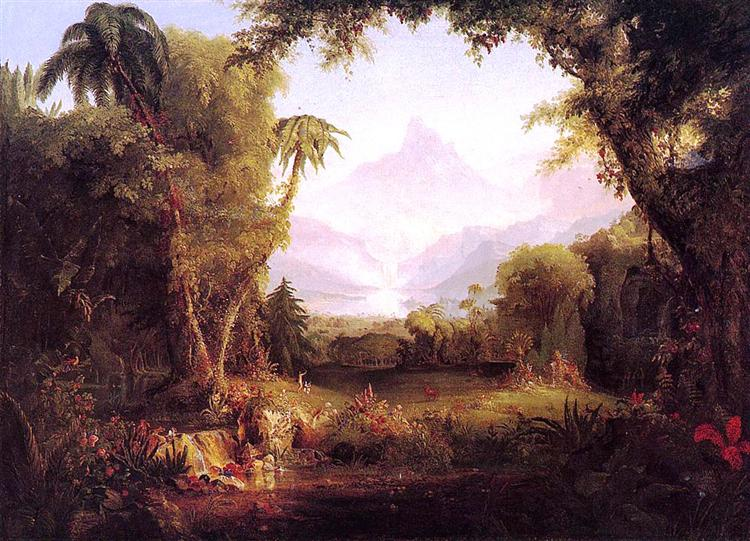 The Garden of Eden, 1828 - Thomas Cole