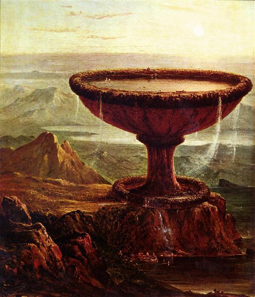The Titan`s Goblet - Thomas Cole