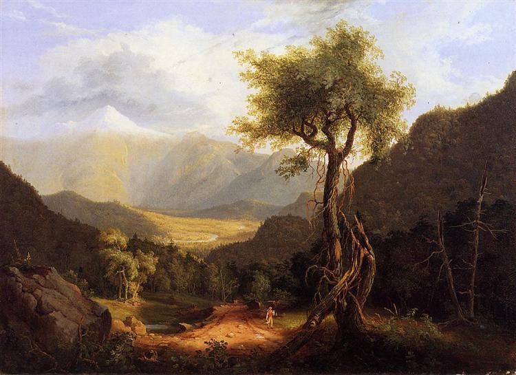 View in the White Mountains, 1827 - Thomas Cole