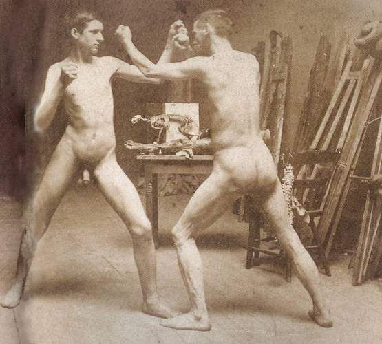 Two Nude Boys Boing In Atelier
