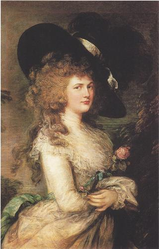Портрет Джорджины, герцогини Девонширской. Холст, масло, 101.5 x 127 см. 1787 год.