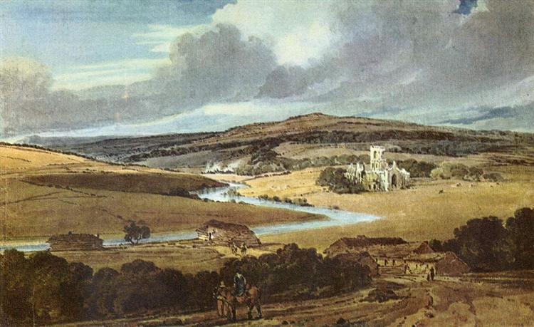 Kirkstall Abbey, Yorkshire, 1801 - Thomas Girtin