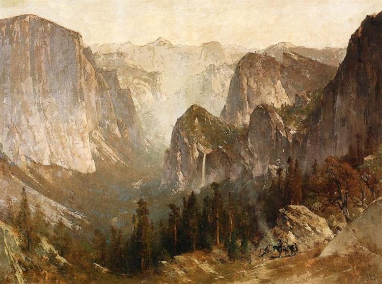 Piute Indian Encampment, Yosemite - Thomas Hill