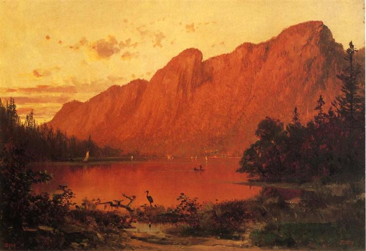 Profile Peakk from Profile Lake, New Hampshire, 1869 - Thomas Hill