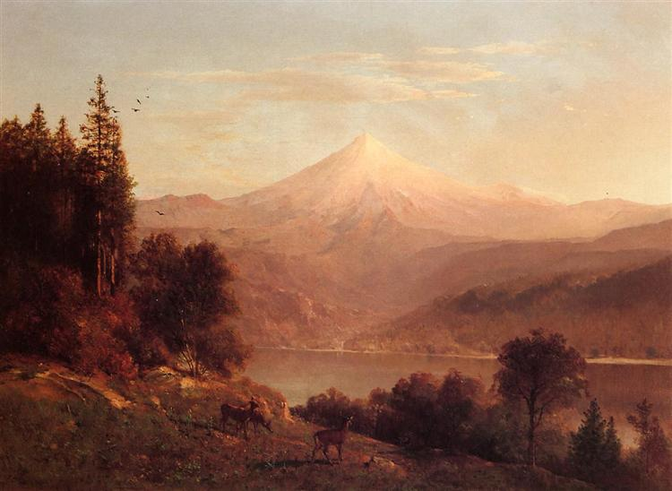 View of Mount Hood, 1866 - Thomas Hill
