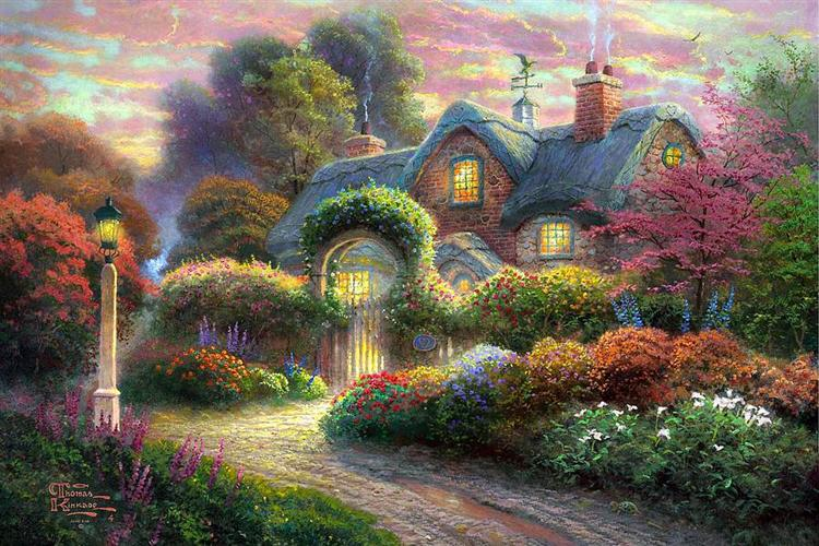 Rosebud Cottage, 2011 - Thomas Kinkade