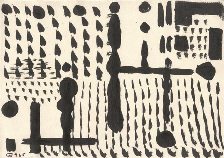 Ballustrades, 1965 - Tihamer Gyarmathy