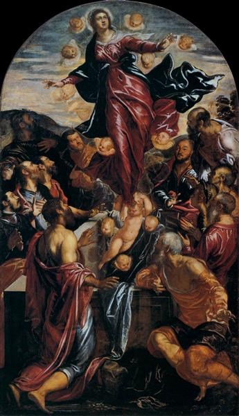 Assumption of the Virgin, c.1550 - Tintoretto