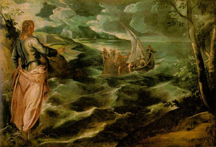 Christ on the Sea of Galilee, 1575-1580 - Tintoretto