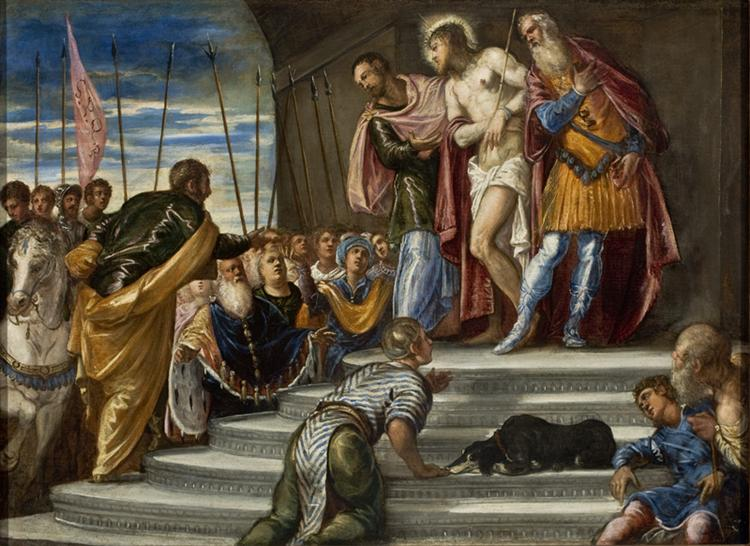 Ecce Homo(Pontius Pilate Presenting Christ to the Crowd), 1546 - 1547 - Tintoretto
