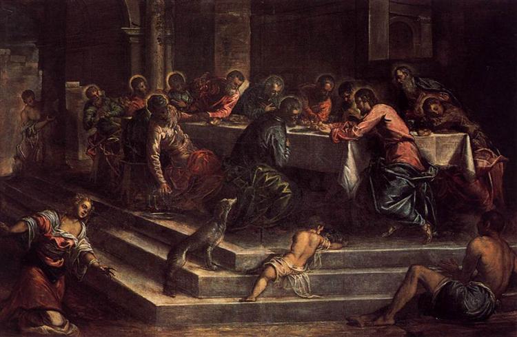 The Last Supper, c.1570 - Tintoretto